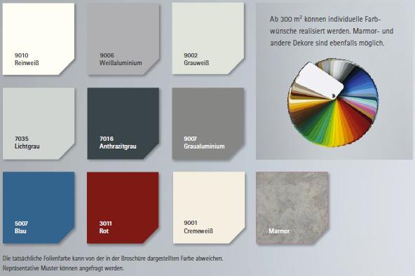 Fassadenfolien Farbpalette Basisfarben,  Moderisierungsmaßnahme, Fassadenrenovierung. Fassadensanierung