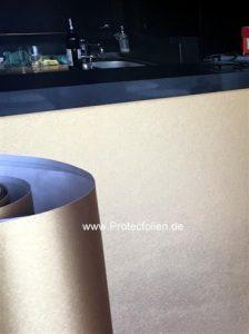 Möbelfolie Gold gebürstet mit 3D Oberfläche