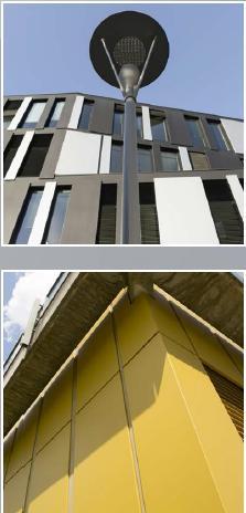 Protecfolien-Renovierte 70er-Jahre-Fassade Klinikum Worms02, Moderisierungsmaßnahme an der Gebäudefassade, Fassadenrenovierung oder Fassadensanierung