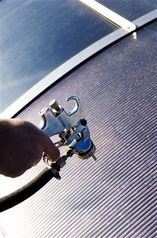 Sonnenschutzlasur Airless-Beschichtung Protecfolien